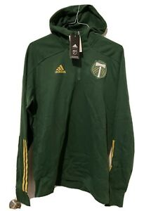 Adidas MLS Soccer Portland Timbers Hoodie Jacket Men's Size XL  Ret $75