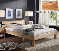 Massivholz Bett 140x200 Kernbuche geölt Jugendbett Holz Bettgestell 2er Kopfteil