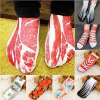 US STOCK Men Women 3D Printed Socks Animal Casual Funny Emoji Low Cut Ankle Sock