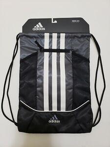 ADIDAS - Alliance II Drawstring Backpack / Sackpack - Grey/ Black