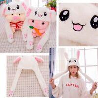 Fashion Glowing Rabbit Pinching Ear Hat Moving Airbag Bunny Cap Light Gifts US