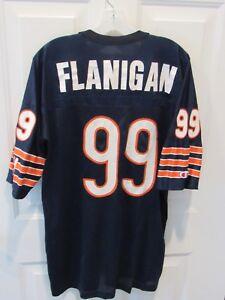 VTG CHICAGO BEARS JIM FLANIGAN CHAMPION NFL FOOTBALL JERSEY SZ 48 44 JACKET LOT