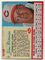 1962 Post #125 - Jim Brosnan - Cincinnati Reds - FREE SHIPPING