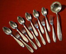 Apollo 6 fourchettes 6 cuillères à potage 1 louche métal argenté style Art déco