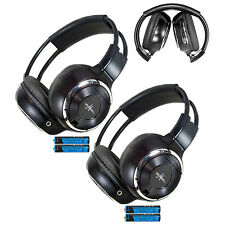 2 Fold In Wireless Infrared DVD Rear Headphones Headset Mopar Van Truck IR-2008B