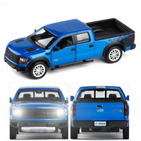 1/32 Ford Raptor F150 Pickup Truck Model Car Alloy Diecast Gift Toy Vehicle Blue