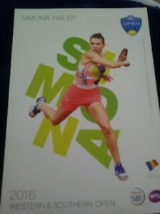 WTA WESTERN & SOUTHERN 5x7 SIMONA HALEP TENNIS CARD 2016 EDITION GIVEAWAY