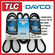 Dayco Fan Belt Kit (3 Belts) Landcruiser FZJ105 75 78 79 80 R 1FZ-FE 4.5 Petrol