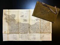 WWII Major Charles H. King D-Day Carried Infantry Invasion Cherbourg Map Relic