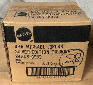 Sealed Factory Case Of 6 Mattel NBA Michael Jordan Silver Edition Figurines Asst