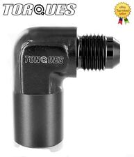 """AN-6 (-6AN JIC) 90 Degree Quick Connect 3/8"""" Female Fuel Line O.E adapter BLACK"""