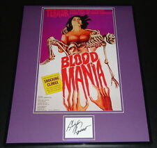 Alex Rocco Signed Framed 16x20 Photo Poster Display Blood Mania