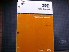 Case 1550 Crawler tractor dozer owner Operator Operation Manual book GUIDE IH