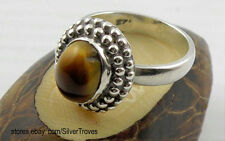 Sterling Silver Ring With Tiger Eye's Stone Size 9