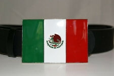 Mexican Mexico Viva Flag Belt Buckle