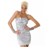 NEW SEXY STRAPLESS COCKTAIL EVENING DRESS SILVER SIZE 8 10 12 PARTY/WEDDING/CLUB
