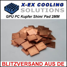 Cobre [] 2mm GPU shim/wärmeleitpad → laptop reparación Repair thermal pad Copper