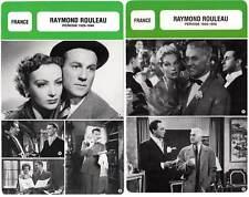 FICHE CINEMA x2 : RAYMOND ROULEAU DE 1929 A 1956 -  France (Biographie/Filmo)