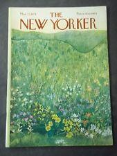 Vintage New Yorker Magazine May 22 1971 - Ilonka Karasz cover art
