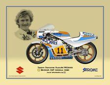 Print on paper Suzuki RG500 1981 #11 Jack Middelburg (NED) #7 by Guy Golsteyn