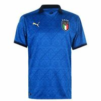 Puma Italy Home Shirt 2020 Mens Jersey Blue Football Soccer Training Tee Top
