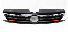 Gloss Black w/ Red Honeycomb Hex Front Grill Fits VW Jetta 4dr Sedan MK6 15-17