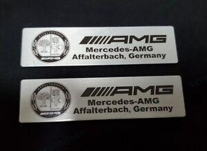 2x Metal Car Accessories Emblem Sticker Badge Decal Logo For Affalterbach AMG