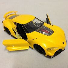 """TOYOTA FT-1 CONCEPT JDM Tuners 5.5"""" METAL DieCast PULL BACK 1:32 Jada Toy Yellow"""