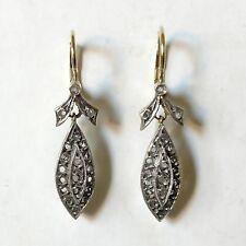 Antike Ohrringe - Marquise - Diamant Ohrringe - Gold 585 - Familienerbstück