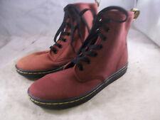 DR. MARTENS WOMEN'S SHOREDITCH 7-EYE BOOTS CHERRY RED CANVAS 6 MEDIUM 4 UK $90