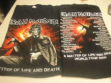 IRON MAIDEN- Gun Life & Death  MENS XLARGE T-SHIRT g