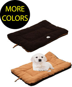 Eco-Friendly Eco-Paw Reversible Fleece Dual-Toned Travel Pet Dog Bed Beds Mat
