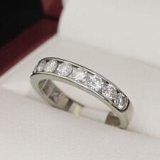 Natural Not Enhanced Diamond Eternity Fine Rings