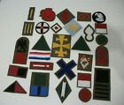 WW1 British division and cloth battle patches