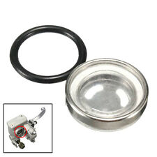 Motorcycle Bike Brake Master Cylinder Reservoir One Sight Glass Lens Gasket 18mm