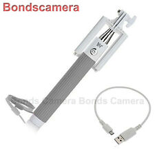 Dispho Foldable all-in-one Bluetooth Selfie Monopod for Android iPhone HTC grey