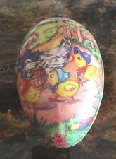 Antique Lithographed Easter Egg large German Candy Container