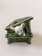 Retro Kitsch Mouse Ornament Foreign Japanese Piano Green