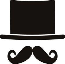 Sombrero Y Moustach Sticker Etiqueta de vinilo gráfico Etiqueta posterior V3