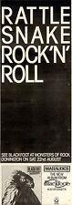 4/7/1981Pg31 Album & Concert Advert 15x5 Blackfoot Marauder (donnington Park, Mo