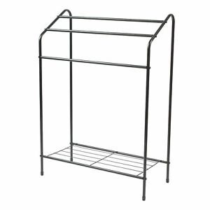 Beldray LA055514BLK 3 Tier Towel Rail with Rack, 60 cm x 28.5 cm x 83 cm