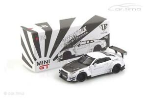 Liberty Walk Nissan GT-R R35 (LHD) weiß - MINI GT 1:64 MGT00068-L