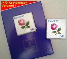 1. Porzellanbriefmarke der Welt Augarten OVP Sonderbriefmarke Austria best Stamp