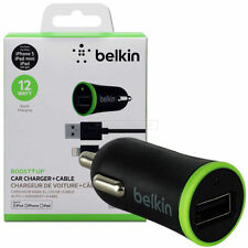 Belkin BoostUp Car Charger LIGHTNING сable USB 2.4Amp Sync for iPhone iPad
