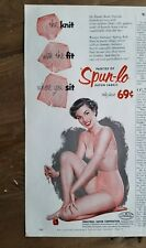 1954 industrial rayon Spun-lo women's pink panties bra underwear fashion ad