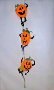 "Pumpkin Trio Nutty Buddies 3D Windsock by Premier. #8521, 48"" Long."