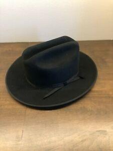 Stetson Open Road 6X Fur Felt Cowboy Hat - No Box - Black - 7