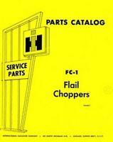 International 7 and 8 Flail Chopper Parts Catalog Manual FC-1