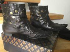 Boots Patrick Cox cuir noir clou  taille 38