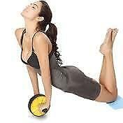 AB Wheel Abdominal Fitness Exercise Roller With Knee Pad(Yellow)
